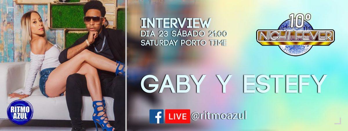 10º Night Fever - entrevista no facebook com os bailarinos Gaby e Estefy - bachata e Salsa