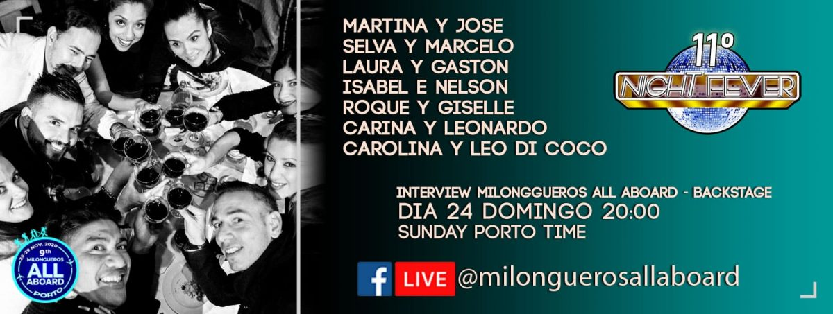 11º night fever - entrevista com os bailarinos do Milongueros All Aboard