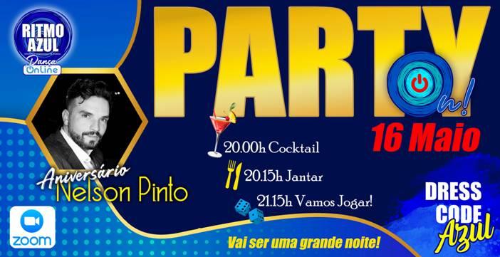 Party On - festa de dança online - by Ritmo Azul - escola de dança