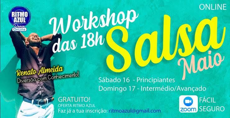 aprender a dançar salsa - workshop Ritmo Azul - escola de dança