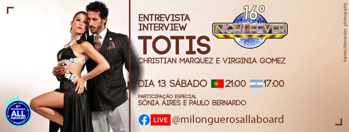 16ª night fever - entrevista aos bailarinos de tango argentino Los Totis