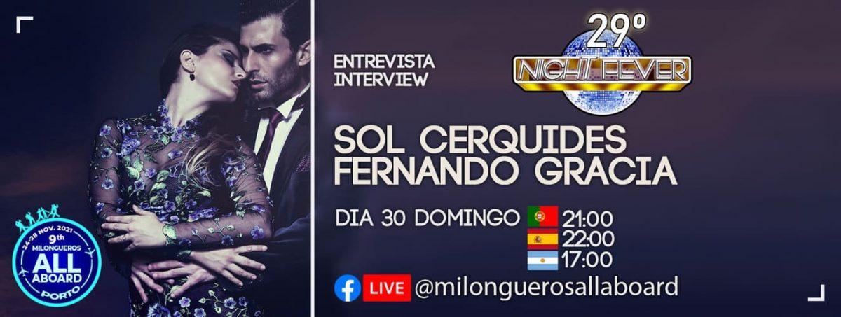 entervcista ao famosos bailarinos de tango Fernando Gracia e Sol Cerquides pela escola de dança Ritmo Azul