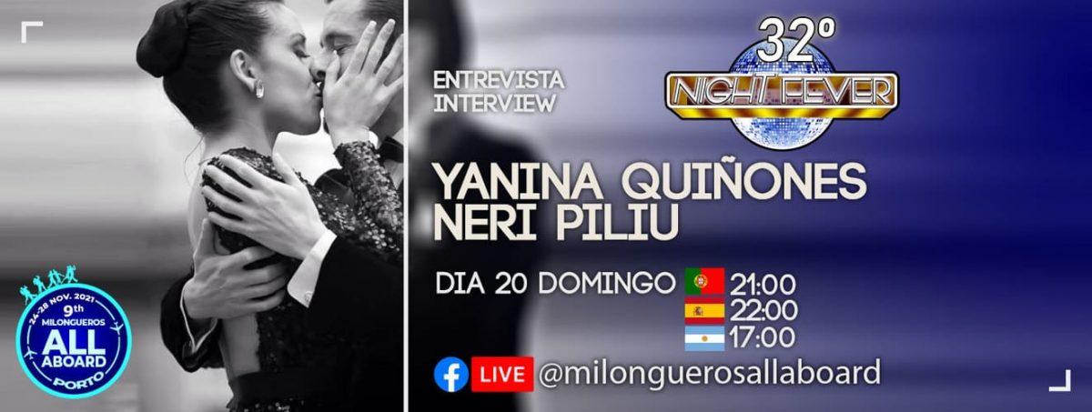 entrevista aos bailarinos de tango argentino Yanina e Neri pelos bailarinos de tango portugueses Isabel Costa e Nelson Pinto