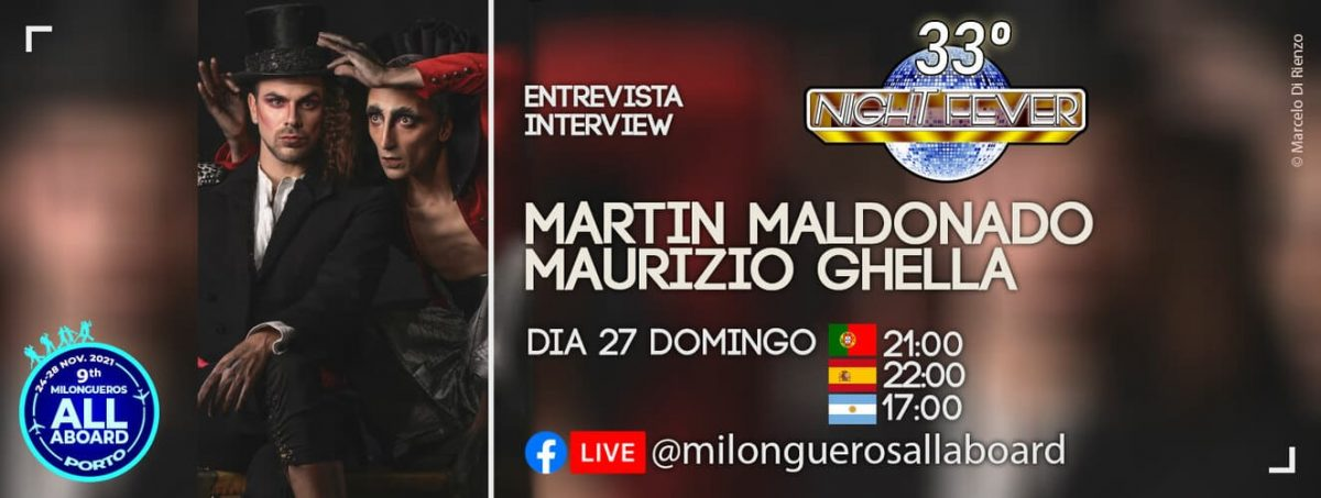 entrevista aos bailarinos de tango Martin Maldonado e Maurizio Ghella pelos bailarinos de tango portugueses Isabel Costa e Nelson Pinto