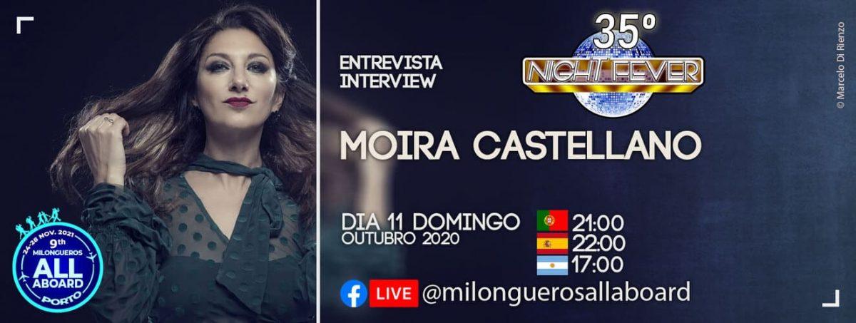 Moira Castellano, icone do tango argentino, em entrevista a Isabel Costa e Nelosn Pinto - bailarinos de tango argentino