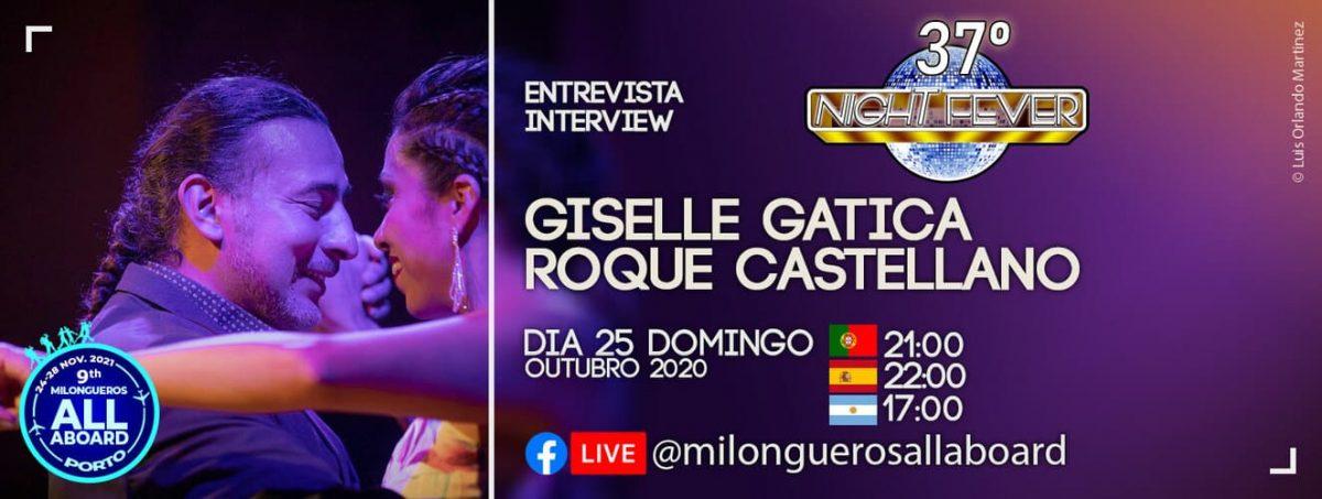 entrevista aos bailarinos de tango e folclore argentino Giselle gatica e Roque Castellano
