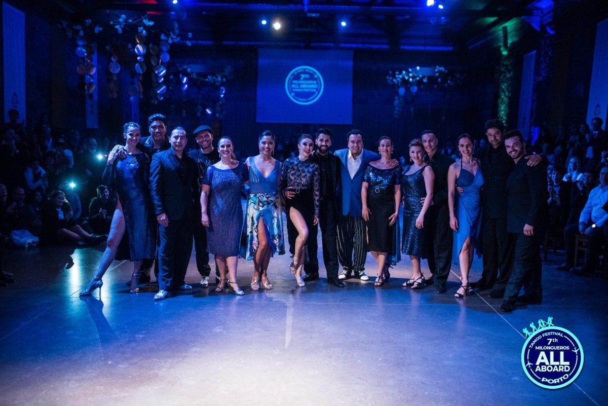 Bailarinos de Tango no 7º Milongueros All Aboard Tango Festival no Porto
