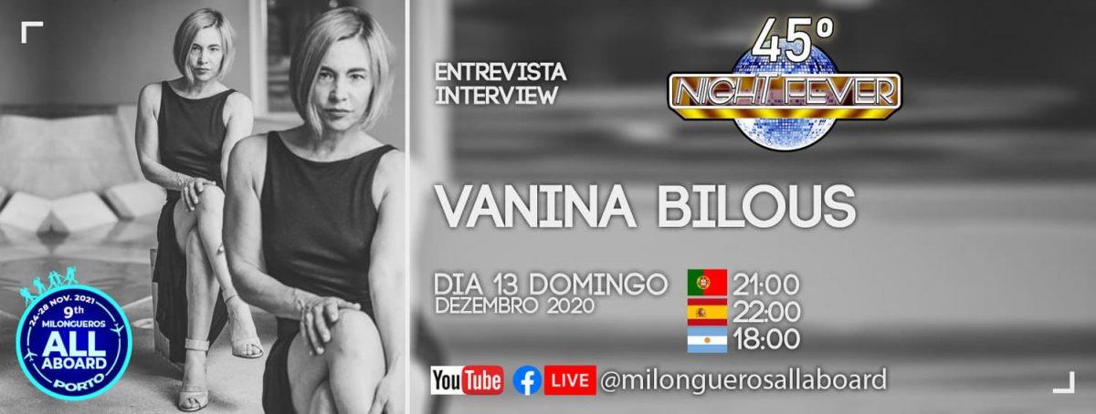 entrevista à bailarina de Tangoo Vanina Bilous