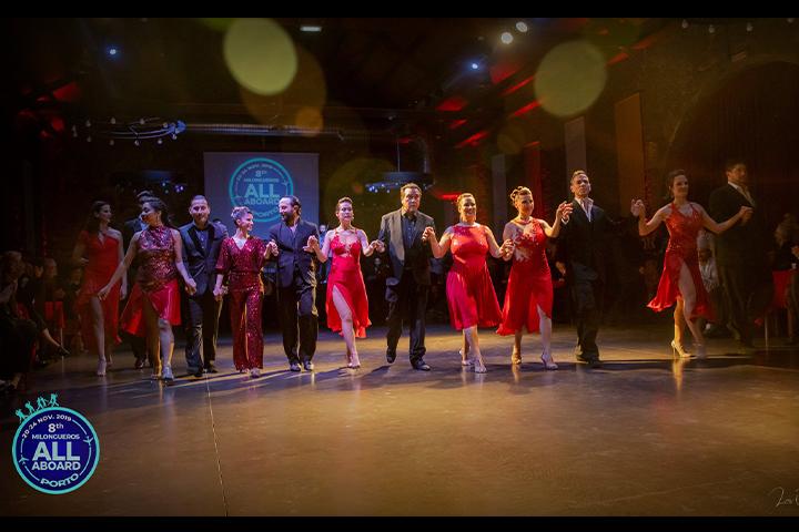Bailarinos e professores de Tango no 8º Milongueros All Aboard Tango Festival