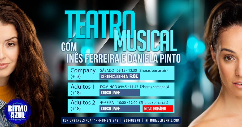 aulas de teatro musical na escola de dança Ritmo Azul em Vila Nova de Gaia