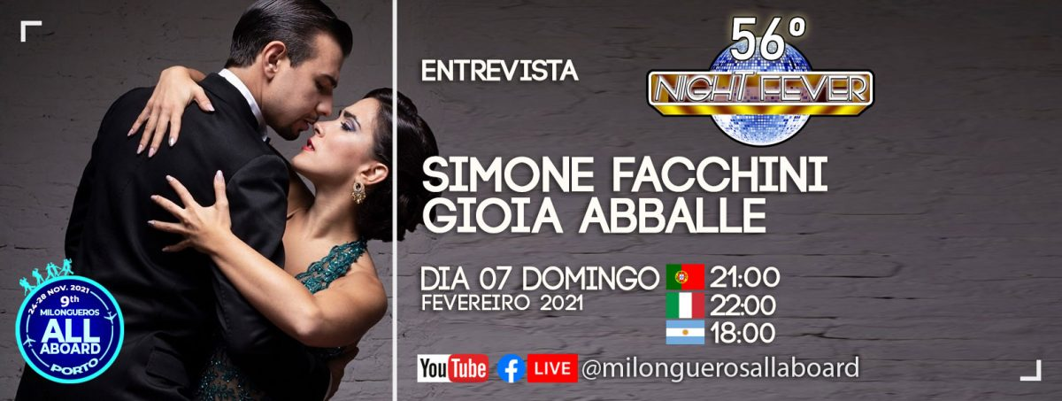 entrevista aos bailarinos de tango Simone Fachinni pelos bailarinos de tango Isabel Costa e Nerlson Pinto