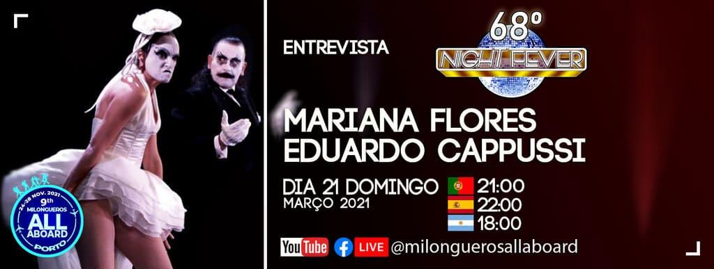 Isabel Costa e Nelson Pinto - bailarinos portugueses de tango entrevistam os bailarinos de tango Mariana Flores e Eduado Cappuci