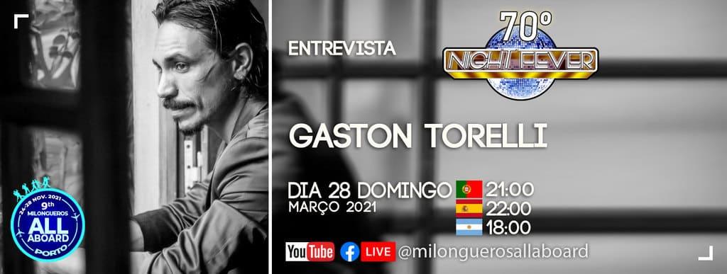 Gaston Torreli, famoso bailarino de tango é entrevistado pelos bailarinos e professores de Tango argentino Isabel Costa e Nelson Pinto