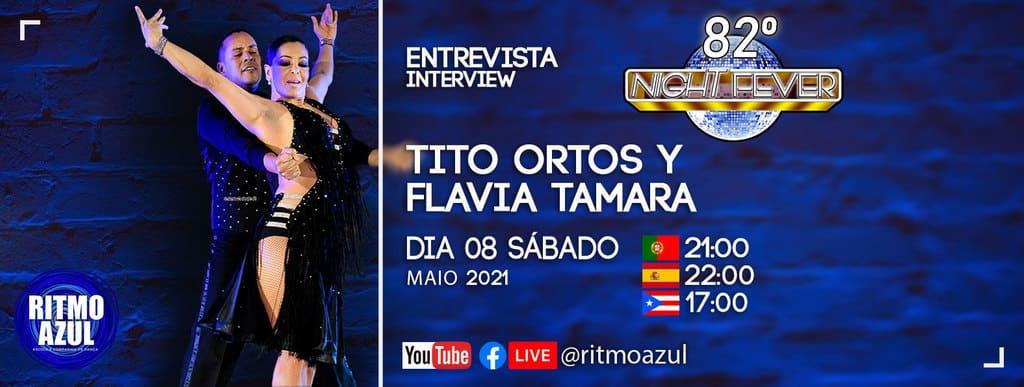 os bailarinos latinos Tito e Tamara são entrevistados pela escola de Dança Ritmo Azul