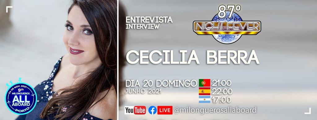 Cecilia Berra - bailarina de tango argentino é entrevistada por Isabel Costa e Nelson Pinto