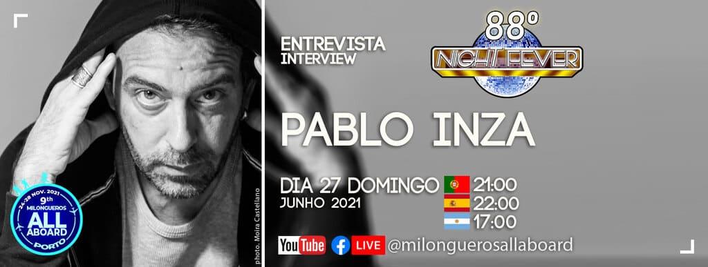 Pablo Inza é entrevistado pelos bailarinos de tango Nelson Pinto e Isabel Costa