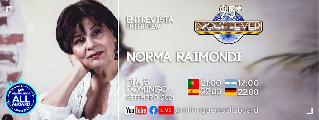Norma Raimondi is entreviewed by portuguese tango dancers Isabel Costa and Nelson Pinto