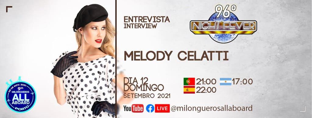 Melody Celatti é entrevistada pelos bailarinos de tango portugueses Isabel Costa e Nelson Pinto